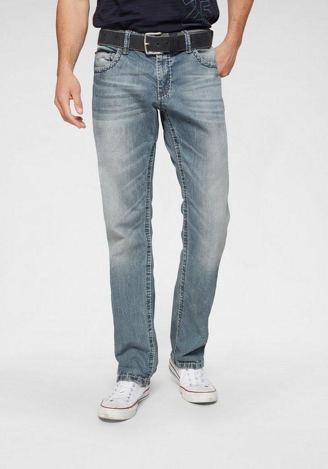 CAMP DAVID Loose-fit-Jeans »CO:NO:C622« mit markanten Nähten | Bekleidung > Jeans > Loose Fit Jeans | Blau | Jeans | CAMP DAVID