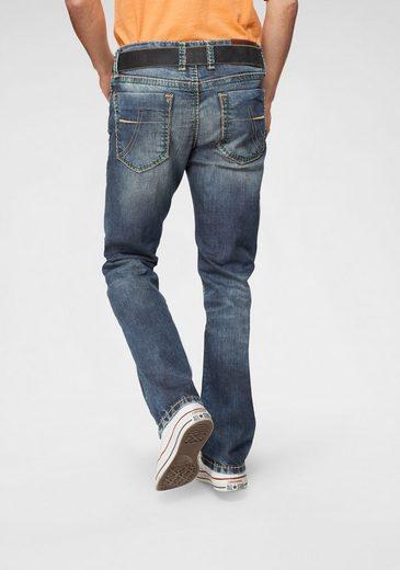 CAMP DAVID Straight-Jeans »NI:CO:R611« mit markanten Steppnähten