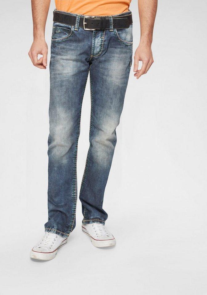best sneakers pre order many fashionable CAMP DAVID Straight-Jeans »NI:CO:R611«, Jeans mit markanten Steppnähten  online kaufen | OTTO