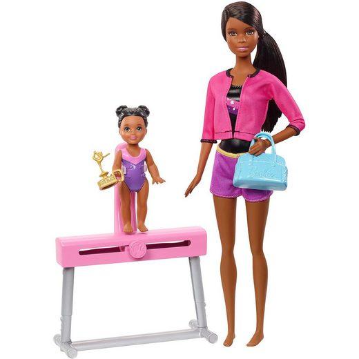 Mattel® Barbie Sport Puppen Spielset - Turntrainerin (brünett)