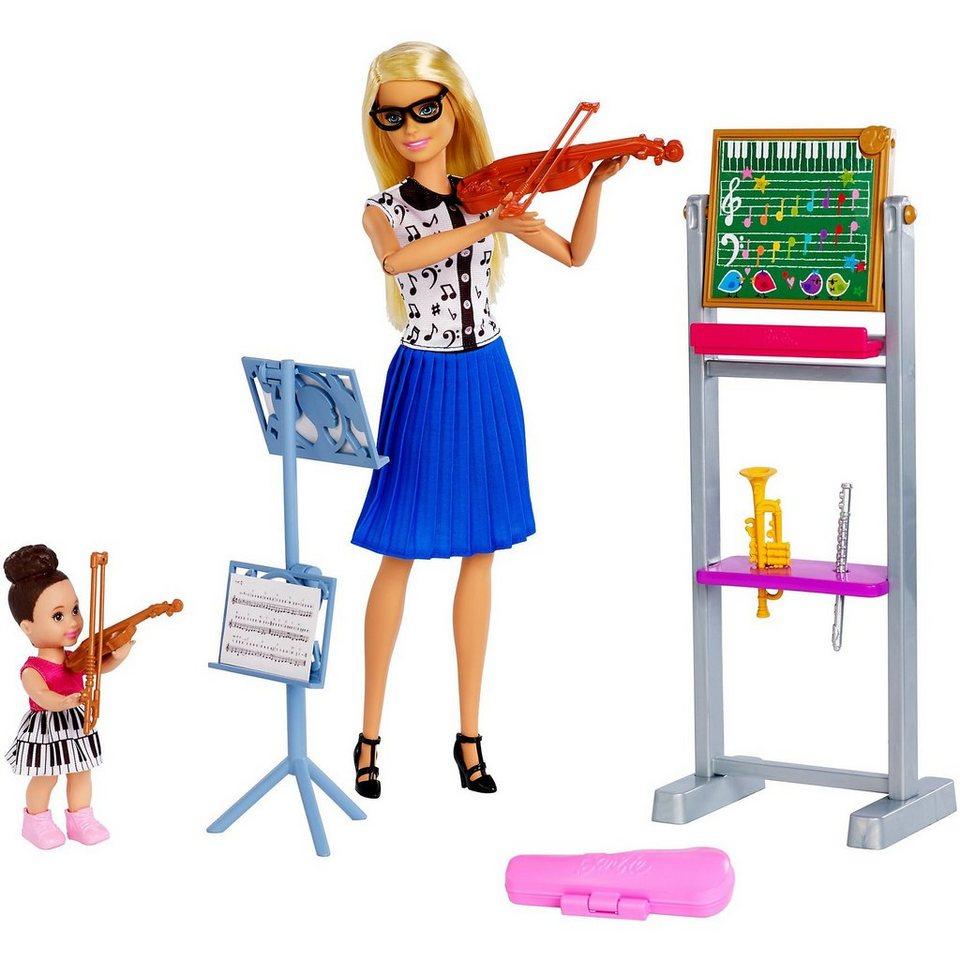 mattel barbie musiklehrerin puppe blond und spielset online kaufen otto. Black Bedroom Furniture Sets. Home Design Ideas