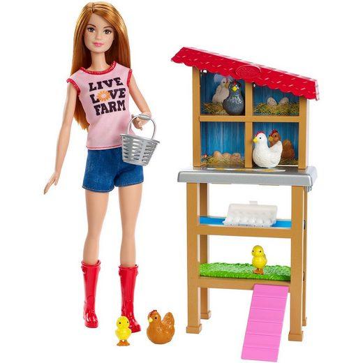 Mattel® Barbie Hühnerzüchterin-Puppe und Spielset