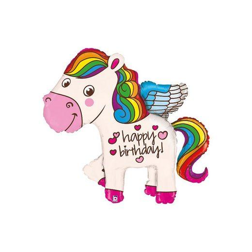 Karaloon Figuren-Folienballon Pony Rainbow