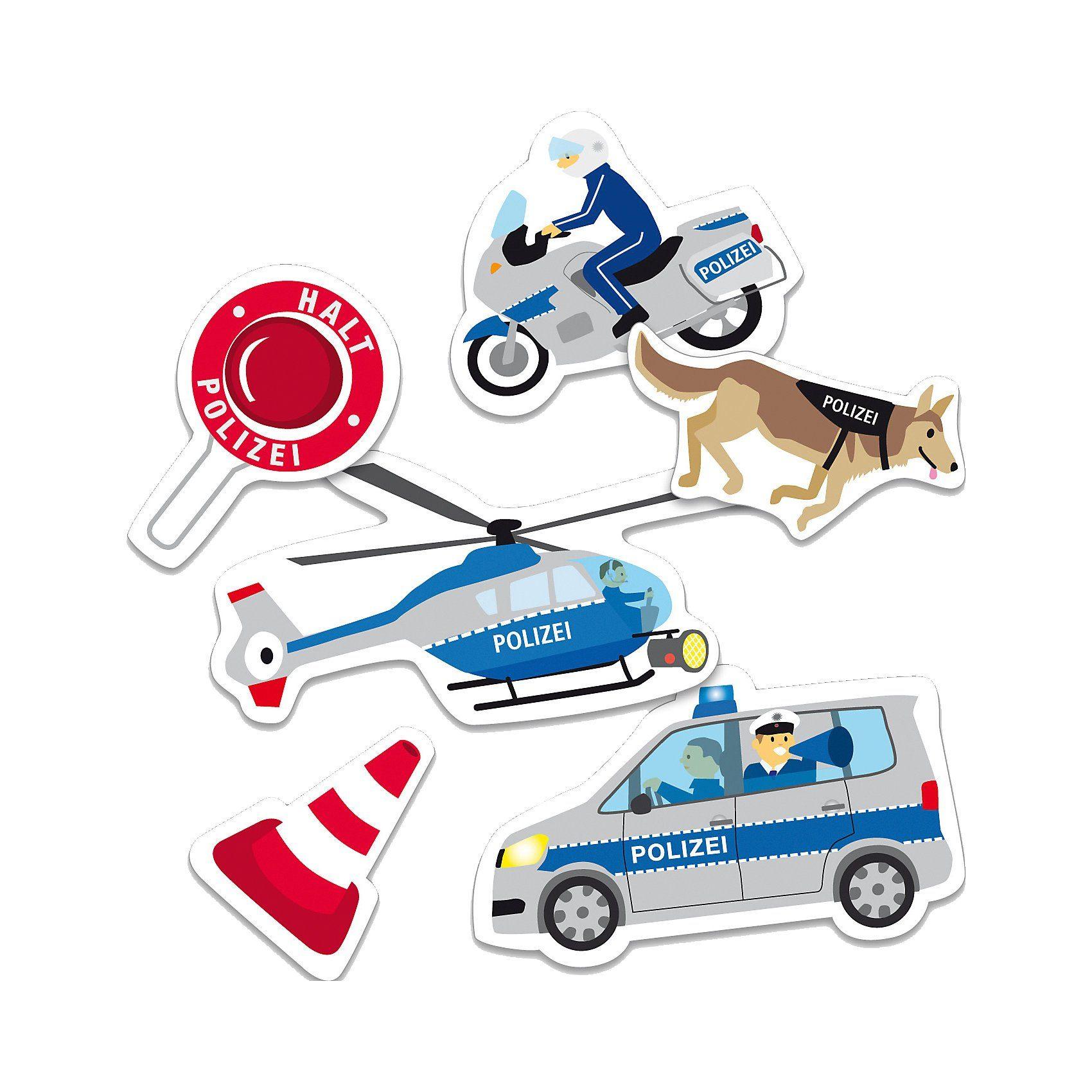 dh konzept XXL-Konfetti Polizei, 24-tlg.