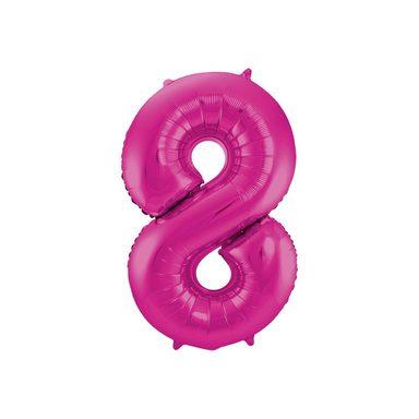 Folat Folienballon Zahl 8, pink
