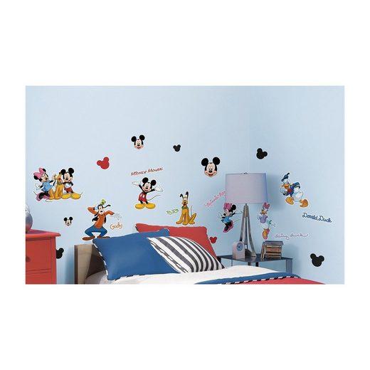RoomMates Wandsticker Disney Mickey Mouse & Friends, 30-tlg.