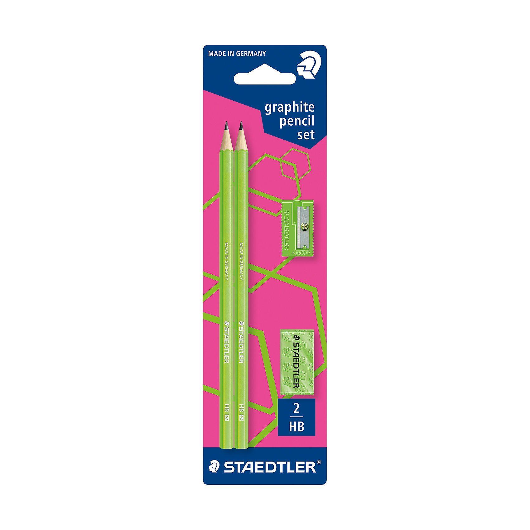 STAEDTLER Bleistiftset inkl. Radierer & Anspitzer