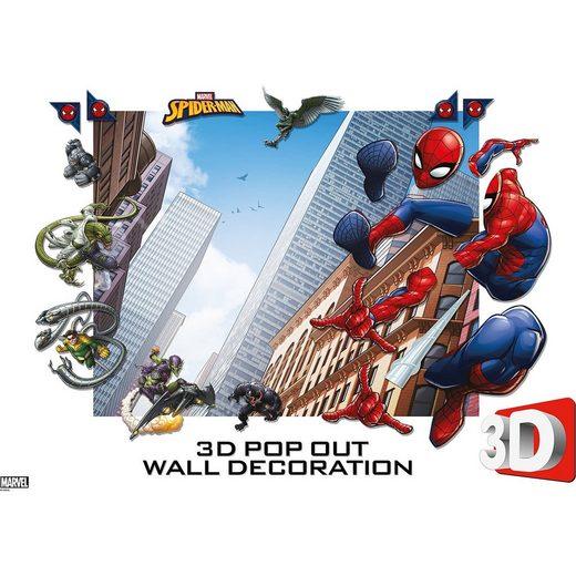 Walltastic Wandsticker Marvel Avengers Spider-Man, 3D Pop Out Wall Deco