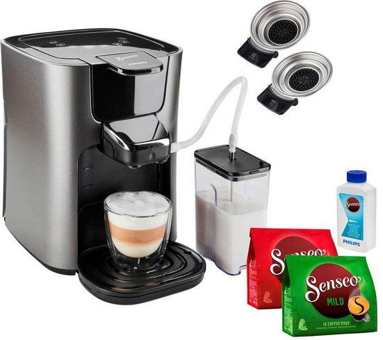 Senseo Kaffeepadmaschine HD6574/50 Latte Duo, inkl. Gratis-Zugaben im Wert von 14,- UVP