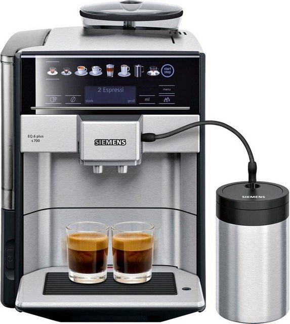 SIEMENS Kaffeevollautomat EQ.6 plus s700 TE657M03DE, inkl .isolierter Milchbehälter mit fresh-lock im Wert von UVP 49,90
