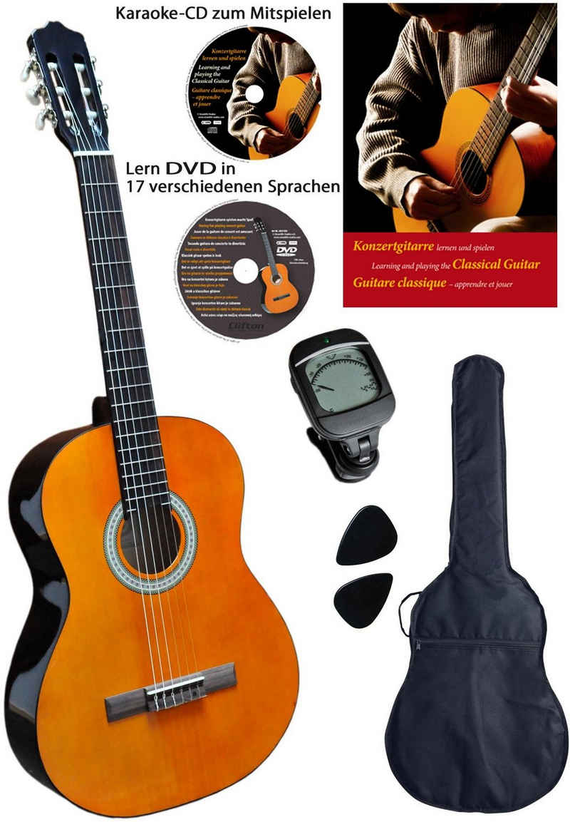 Clifton Konzertgitarre »Clifton - Konzertgitarre 4/4« 4/4, Komplettset