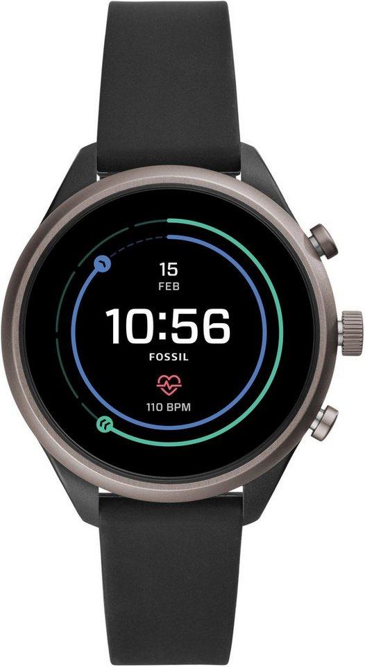 Fossil Smartwatches SPORT SMARTWATCH, FTW6024 Smartwatch (1,19 Zoll, Wear OS by Google) | Uhren > Smartwatches | Schwarz | Fossil Smartwatches