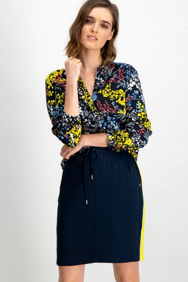 Garcia Klassische Bluse mit Blumenmuster | Bekleidung > Blusen > Klassische Blusen | Blau | Garcia