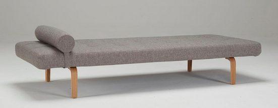 INNOVATION LIVING ™ Relaxliege »Napper«, im Scandinavian Design, Bow Beine, mit flexibler Kissenrolle