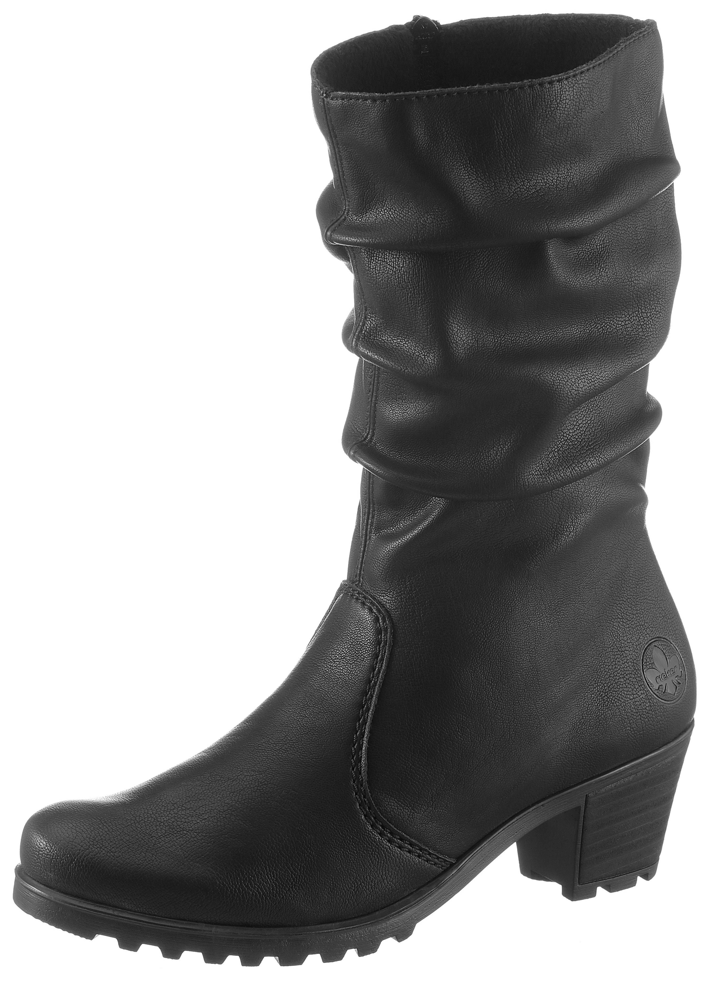 Rieker Stiefel mit Raffungen am Schaft, Kurzstiefel in elegantem Look online kaufen | OTTO