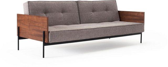 Sofas - INNOVATION™ Schlafsofa »Splitback«, mit mattschwarzen Beinen, in skandinavischen Design  - Onlineshop OTTO