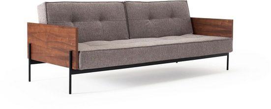 INNOVATION LIVING ™ Schlafsofa »Splitback«, mit mattschwarzen Beinen, in skandinavischen Design