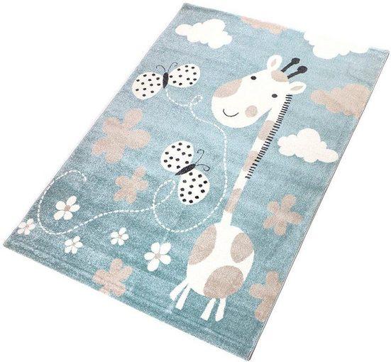 Kinderteppich »Giraffe«, Living Line, rechteckig, Höhe 12 mm, Spielteppich