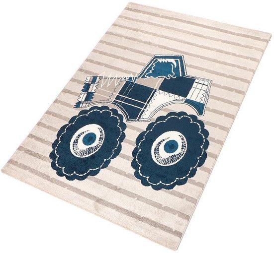 Kinderteppich »Truck«, Living Line, rechteckig, Höhe 12 mm, Spielteppich