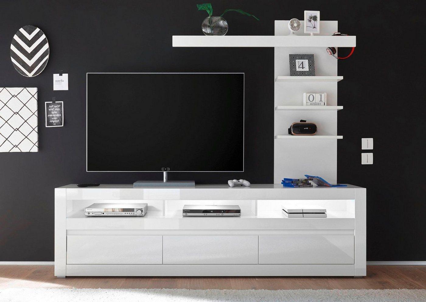 Wohnwände - Mediawand »Carat« (2 tlg.)  - Onlineshop OTTO