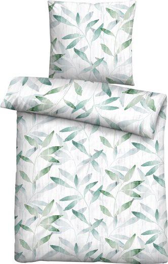 Bettwäsche »Lara«, Biberna, mit Blättern