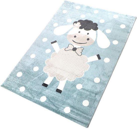Kinderteppich »Dolly«, Living Line, rechteckig, Höhe 12 mm, Spielteppich, Pastell-Farben