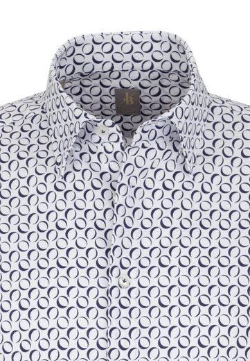 Slim Businesshemd Print Jacques Under button »slim Fit« kragen down Britt Langarm Fit 47PqxPI5w