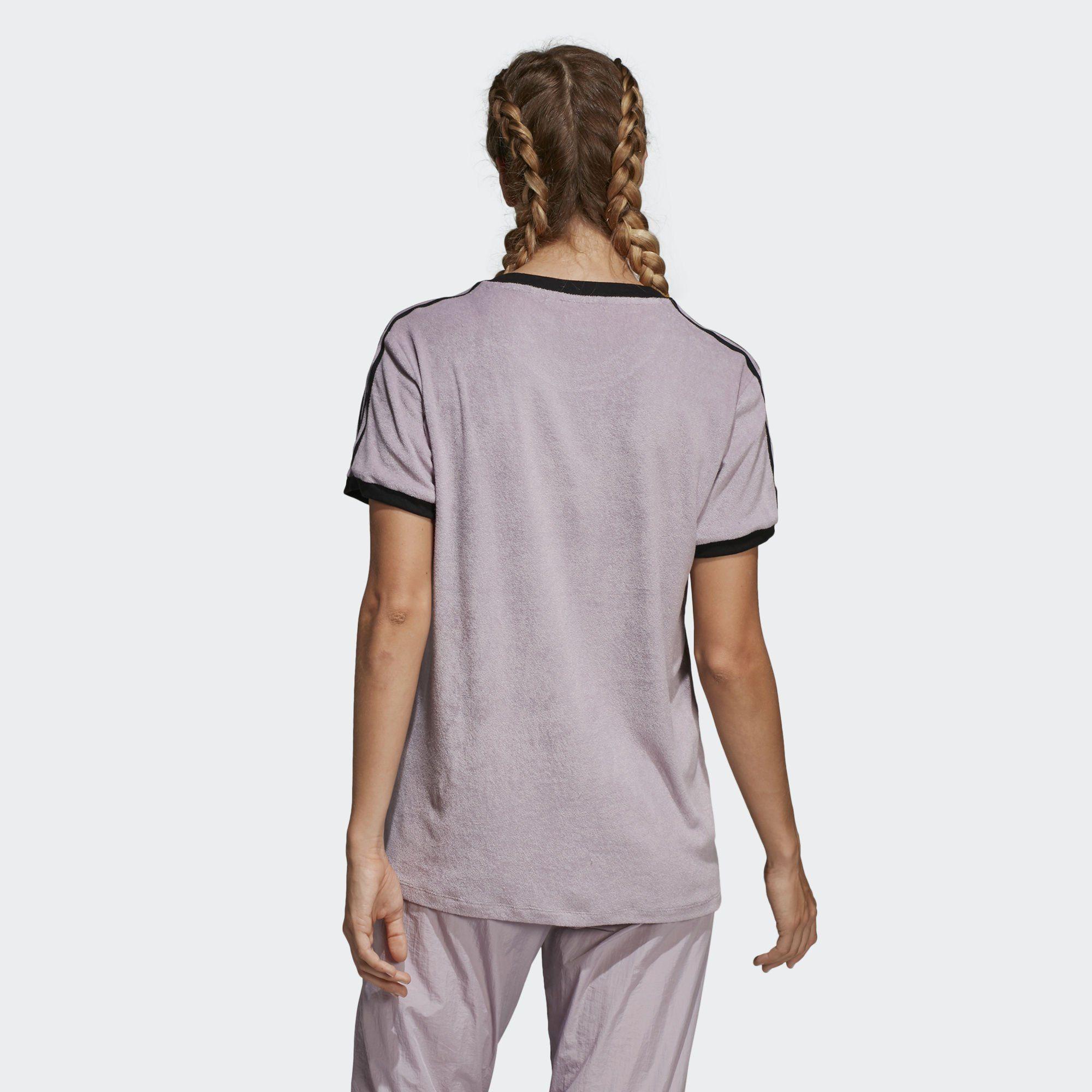 adidas Originals T Shirt »3 Streifen T Shirt«, Kurzärmelig mit Rippbündchen online kaufen | OTTO