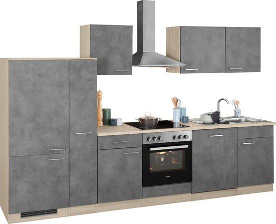 wiho Küchen Küchenzeile »Zell«, mit E-Geräten, Breite 310 cm