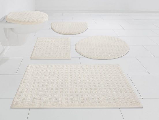 Badematte »Refik« andas, Höhe 8 mm, rutschhemmend beschichtet, schnell trocknend, Pastell