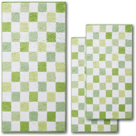 Dyckhoff Handtuch Set »Green Paradise Chessboard«, mit Schachbrettmuster