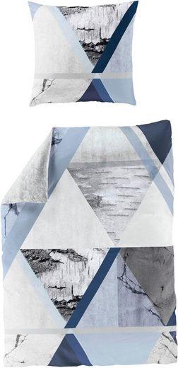 Wendebettwäsche »Cold blue«, BIERBAUM, Digitaldruck