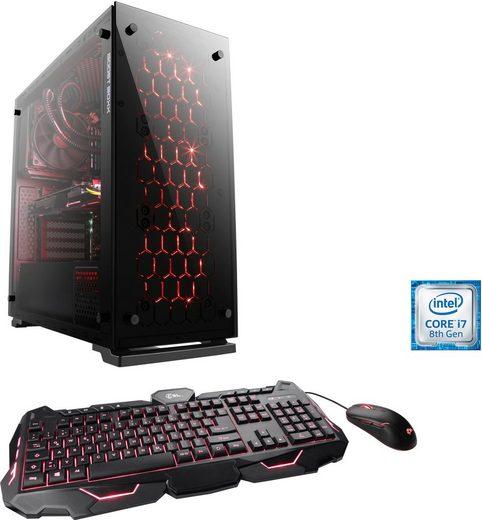 CSL HydroX T9415 - Powered by MSI Gaming-PC (Intel Core i7, RTX 2070, 16 GB RAM, 1000 GB HDD, 240 GB SSD, Wasserkühlung)
