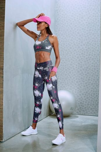 Lascana Anthrazit By »galaxy« Active Leggings bedruckt rxtQCBhdso