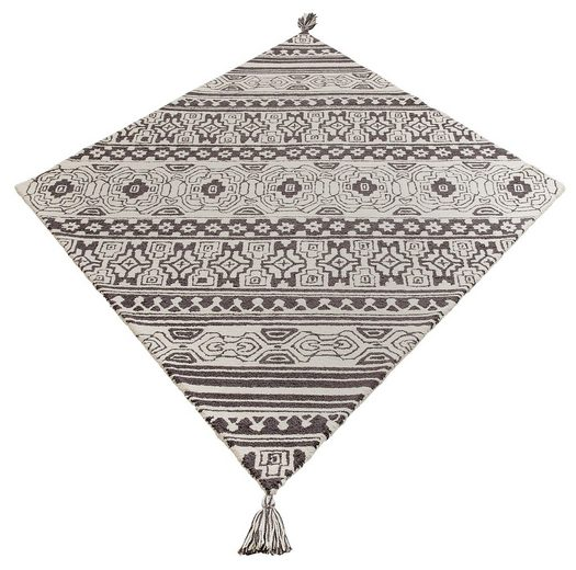 Teppich »Jukka«, Home affaire Collection, rechteckig, Höhe 15 mm, besondere Form mit Troddel