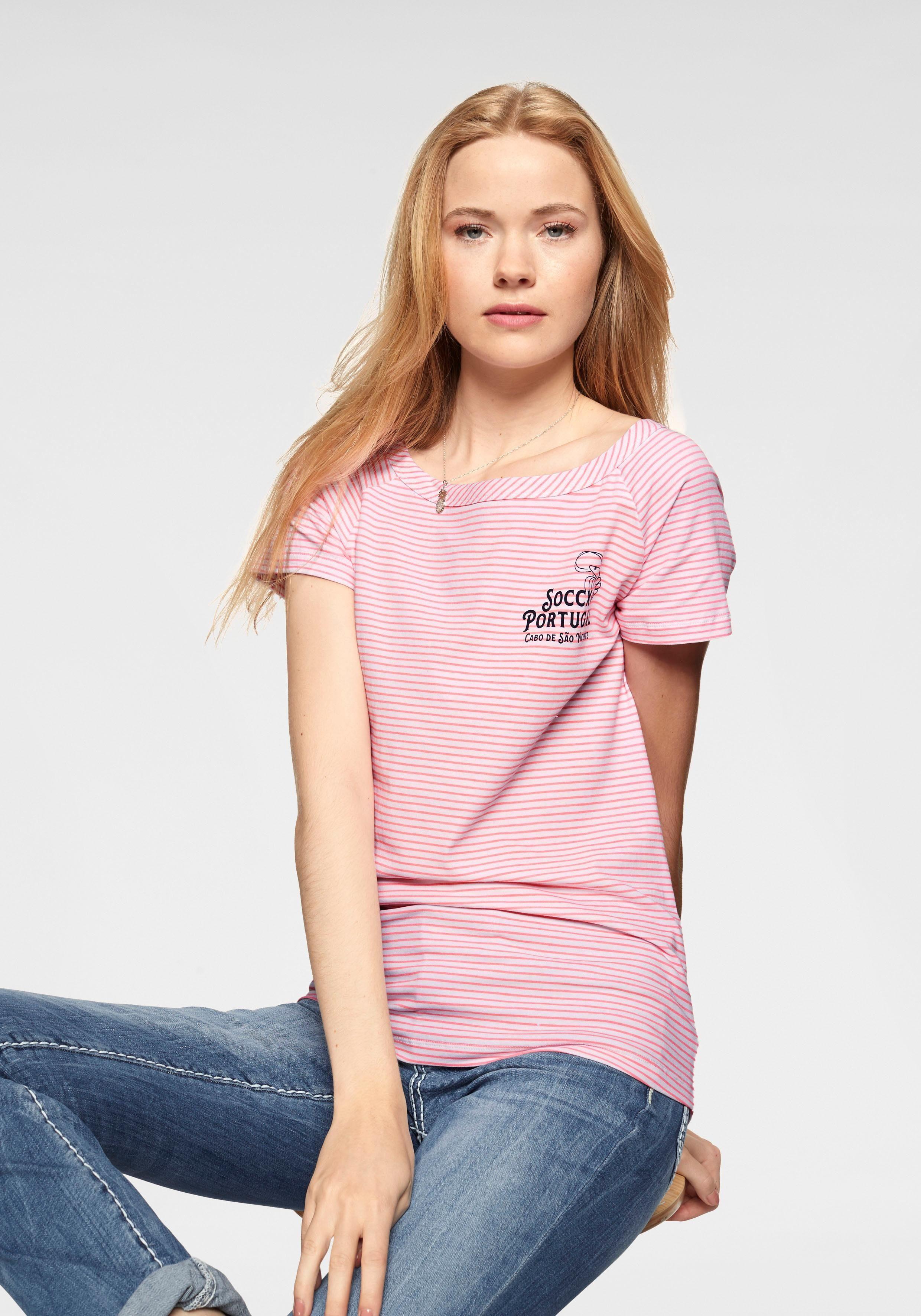 Claire Woman T-shirt Mit Zarter Spitze Schwarz