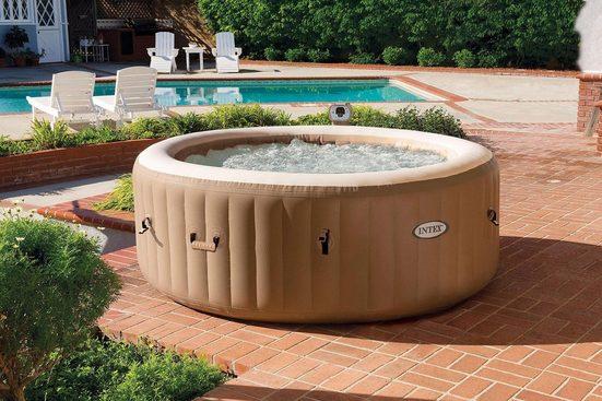 Intex Whirlpool »PureSpa Bubble Massage Round Whirlpool-Komplett-Set Intex«, (Set, 6-tlg)