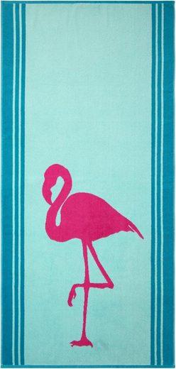 Strandtuch »Flamingo«, Dyckhoff, mit Flamingo-Motiv