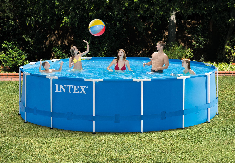 Intex Pool »Metal Frame™ Pool Komplett-Set, Intex« (Set, 5-tlg)