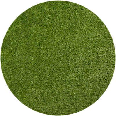 Kunstrasen »Miami Style«, Barbara Becker, rund, Höhe 23 mm, Rasenteppich, handgetuftet, strapazierfähig, witterungsbeständig, In- und Outdoor geeignet