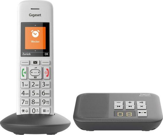 Gigaset »E370A« Schnurloses DECT-Telefon (Mobilteile: 1, mit Anrufbeantworter)