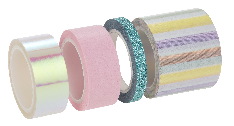 """Washi Tape """"Pastell"""", 4er-Set 5 m"""