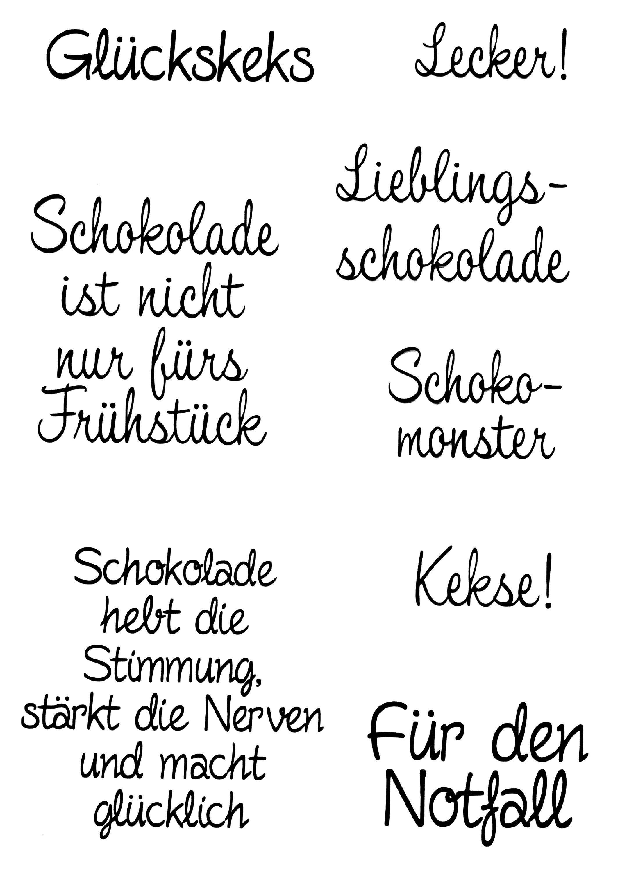 "Clear Stempel-Set ""Glückskeks"" 7 Motive"