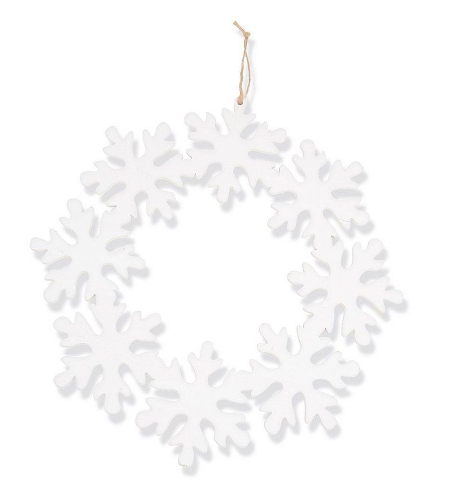 Kranz ´´Afula´´ Schneeflocken mit Aufhängeband   Dekoration > Dekopflanzen > Kränze   OTTO