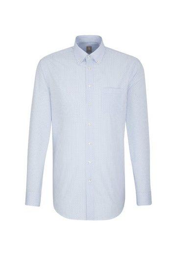 Jacques Britt Businesshemd »Custom Fit« Custom Fit Langarm Button-Down-Kragen Print
