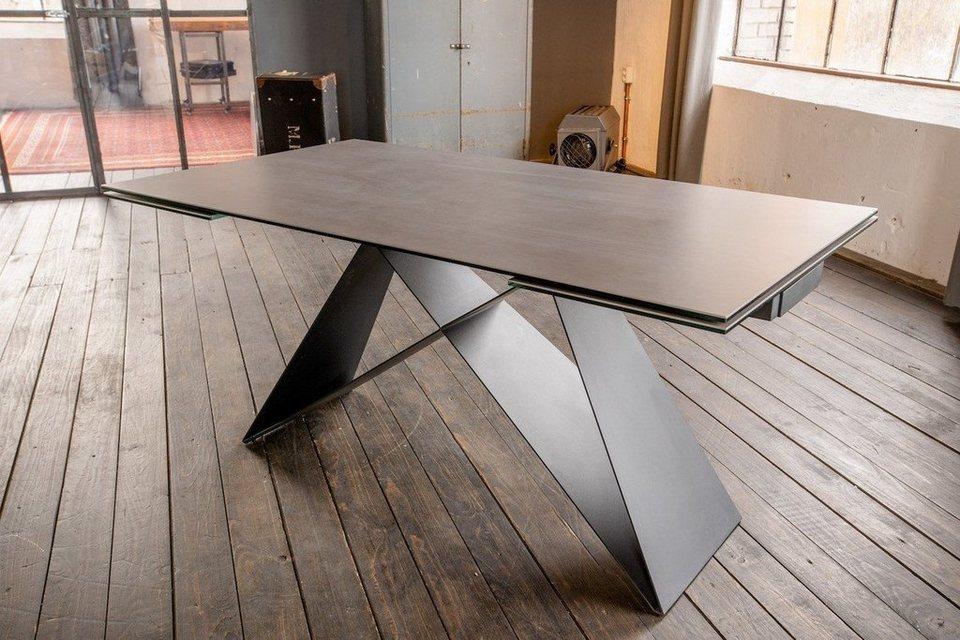 Tisch Ausziehbar Keramikplatte.Kawola Esszimmertisch Keramik Dunkelgrau Ausziehbar Benno Online Kaufen Otto