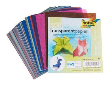Folia Transparentpapier-Faltblätter