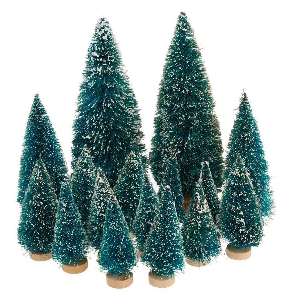 Wo Tannenbaum Kaufen.Vbs Großhandelspackung 16 Tlg Miniatur Tannenbaum Set Beschneit Online Kaufen Otto