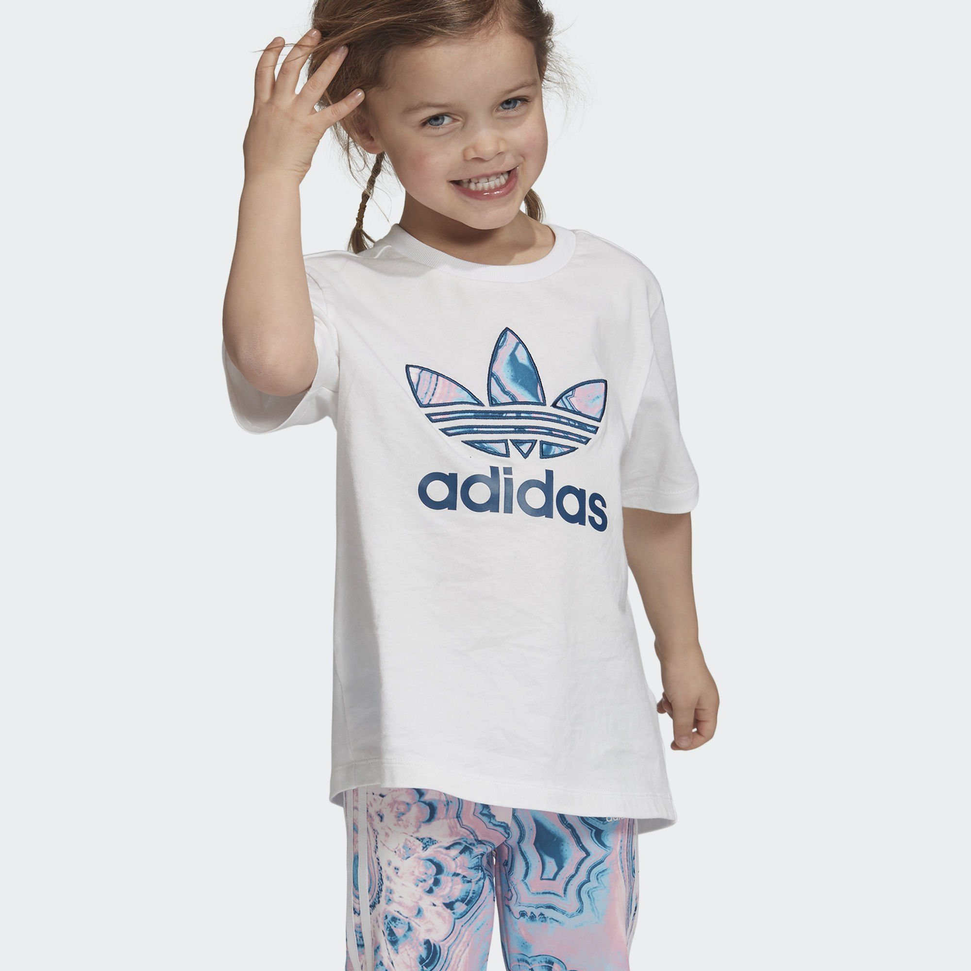 adidas Originals T-Shirt »Marble Trefoil T-Shirt«