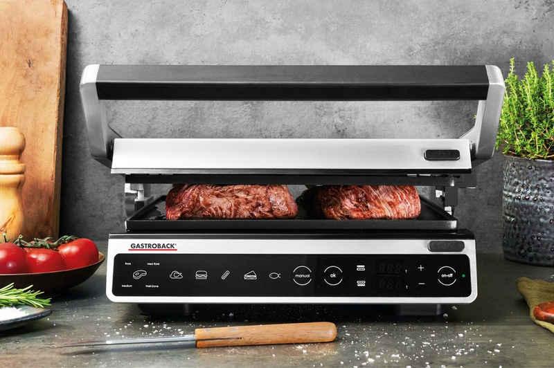Gastroback Kontaktgrill 42542 Design BBQ Advanced Smart, 2000 W